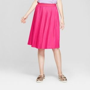 Women's Pleated Skirt - A New Day™ Pink Large